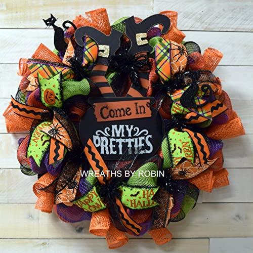 Halloween Thanksgiving Turkey ribbon wreath Fall