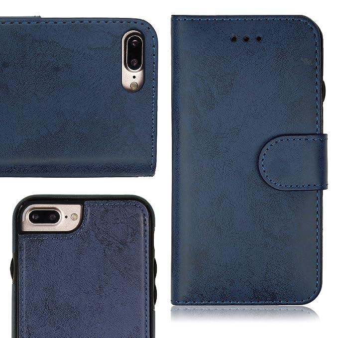 MyGadget Funda Flip Case con Tapa 2 en 1 para Apple iPhone 7 Plus ...