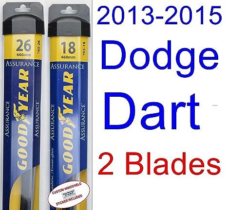 2013 – 2015 Dodge Dart hoja de limpiaparabrisas de repuesto Set/Kit (Goodyear limpiaparabrisas