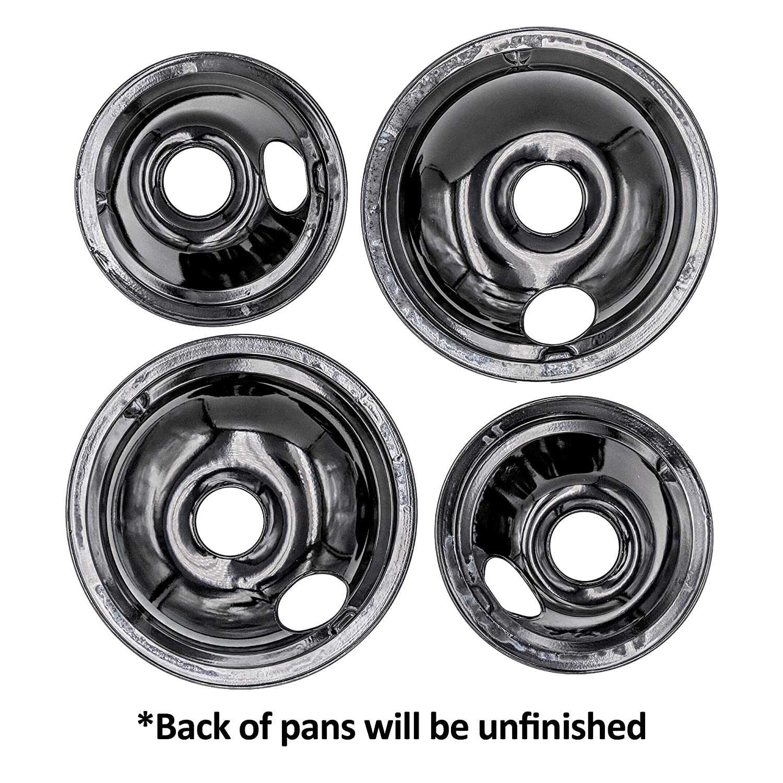 Supplying Demand WB31M19 WB31M20 Black Drip Pan Set 4 Pack