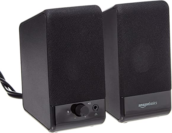Amazon Basics Computer Speakers for Desktop or Laptop PC  USB-Powered