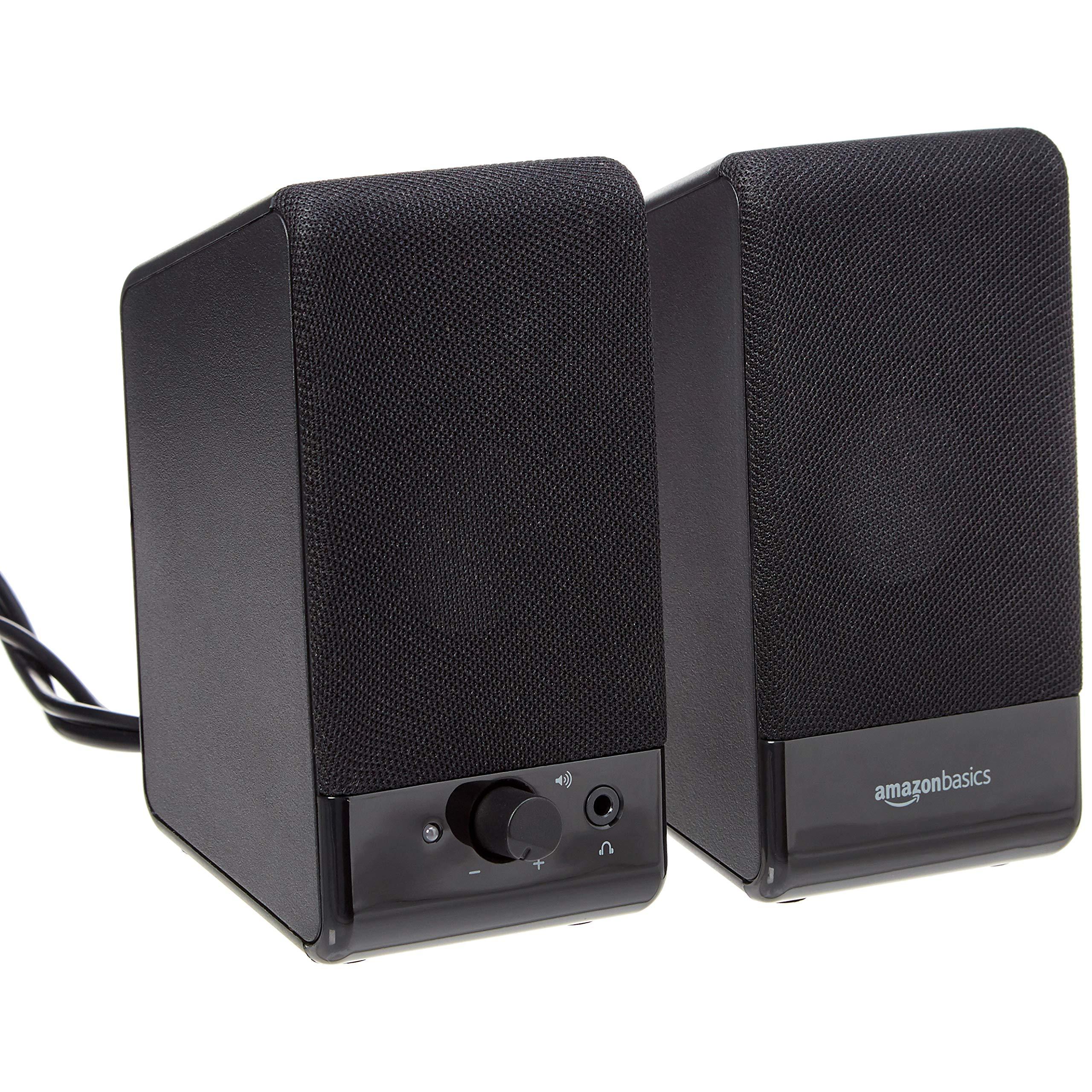 AmazonBasics Computer Speakers for Desktop or Laptop PC | USB-Powered by AmazonBasics