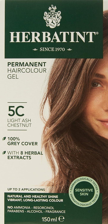 Herbatint 150 ml Número 5C luz castaño de ceniza permanente ...