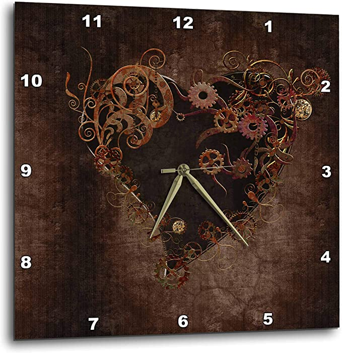 3dRose dpp/_63653/_3 Blue Grunge Peacock Feathers Art-Wall Clock 15 by 15-Inch