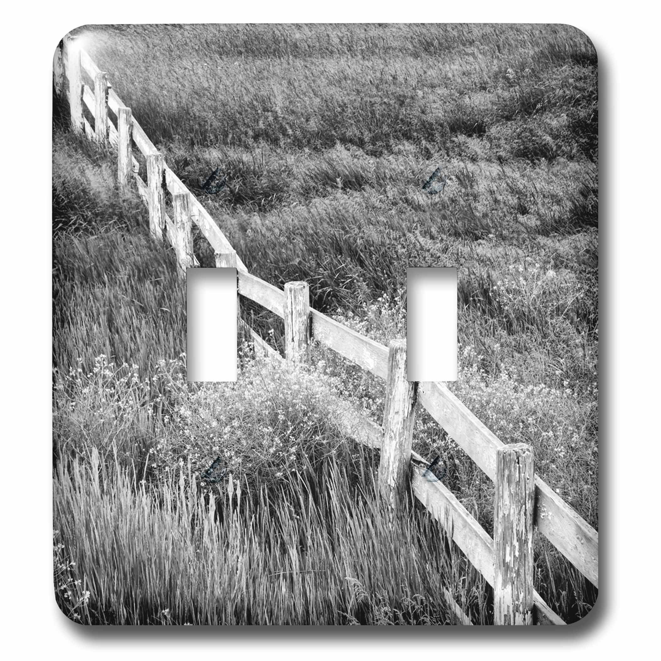 3dRose lsp_231683_2 USA, Washington. Old Wooden Fence in the Palouse Country Toggle Switch, Mixed