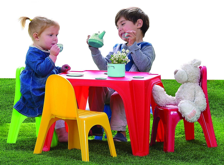 Tavolo da pic nic, tavolo pic nic bambini, tavolo pic nic esterno per bambini, tavolo con sedie, dimensioni 55,5x55,5x36,5, tavolo da pic nic giardino perfetto per tranquilli pomeriggi di gioco. Sport One