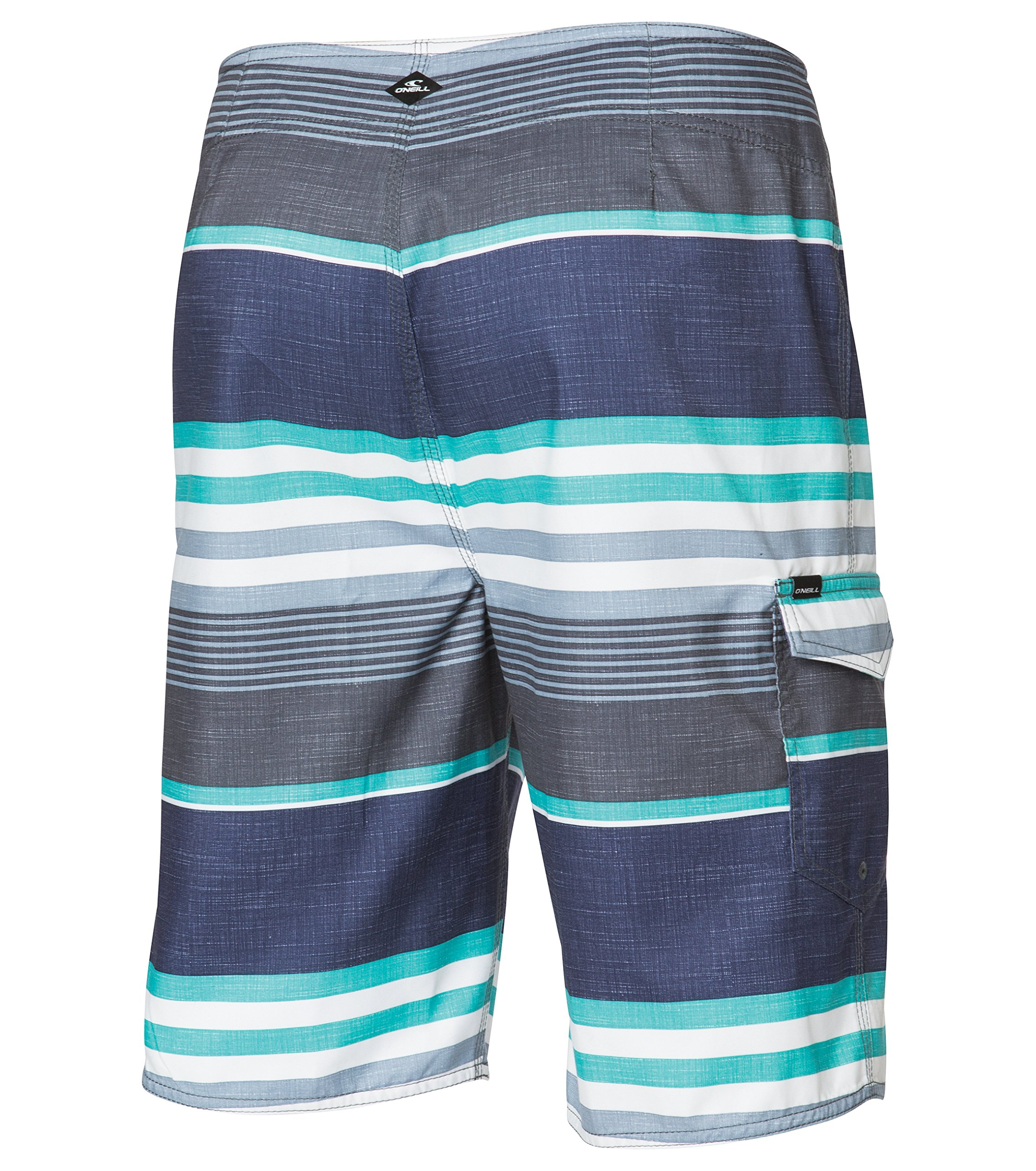 Turquoise Plaid 30 ONeill Mens 21 Inch Outseam Ultrasuede Swim Boardshort