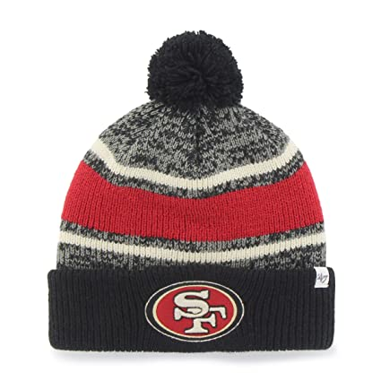 new product e8a98 abc84  47 NFL San Francisco 49ers Fairfax Cuff Knit Hat with Pom, One Size Fits