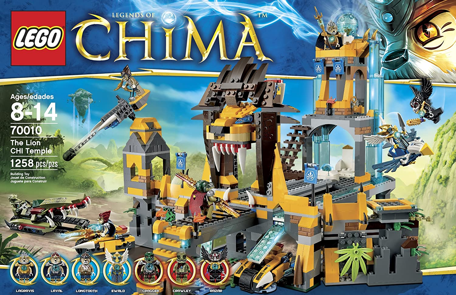 Amazon chima party supplies - Amazon Com Lego Chima 70010 The Lion Chi Temple Discontinued By Manufacturer Toys Games