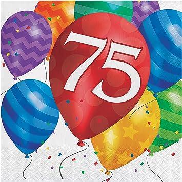 Amazon Balloon Blast 75th Birthday Napkins 48 Ct Health