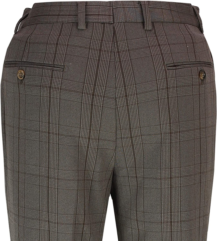Xposed 3 Pezzo Principe di Galles Vestito Classico Stretch vestibilit/à su Misura Giacca Gilet Pantaloni da Uomo