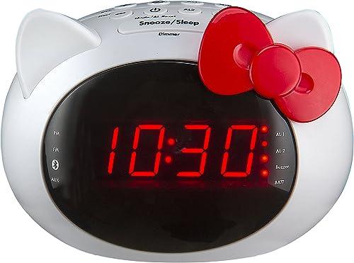 iHome Hello Kitty Bluetooth Dual Alarm Clock Radio Speaker Si-B62.FX