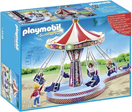 New Toy Gift PLAYMOBIL 5548 Summer Fun Chain carousel Colourful Lighting Ages 4