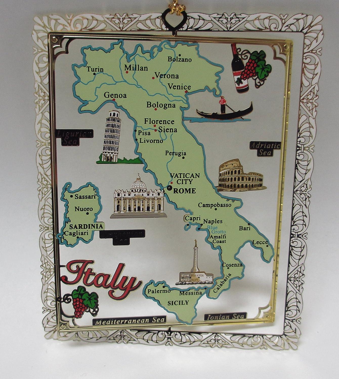 Amazoncom Italy Brass Christmas Ornament Landmarks Travel