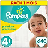 Pampers Premium Protection 140 Nappies, 9 - 18 kg, Size 4+