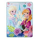 """Disney's Frozen, """"Floral Fjord"""" Micro Raschel Throw"""