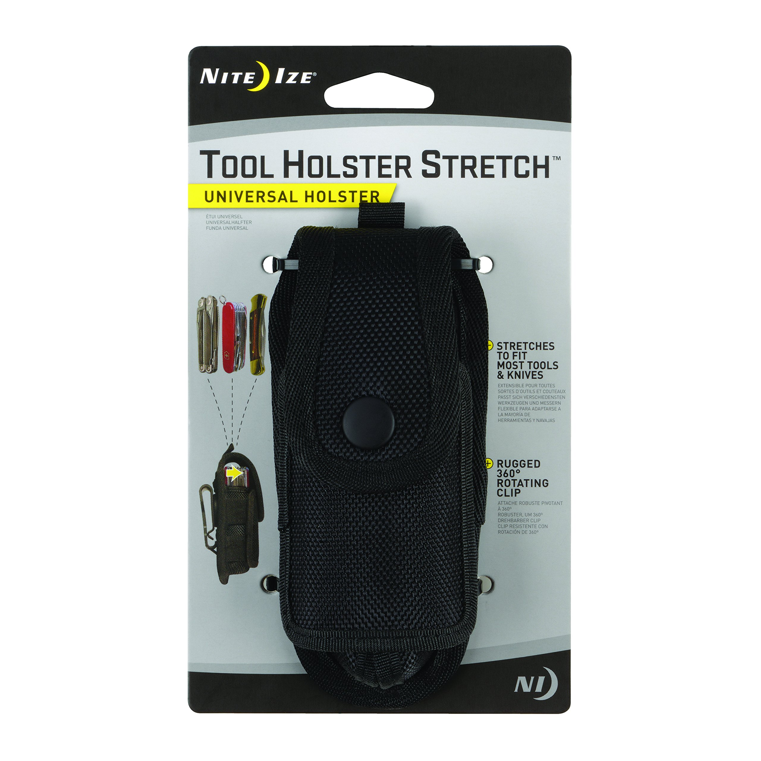 Nite Ize Tool Holster Stretch, Universal Multi Tool Holder With Elastic Side Panels + Rotating Belt Clip by Nite Ize
