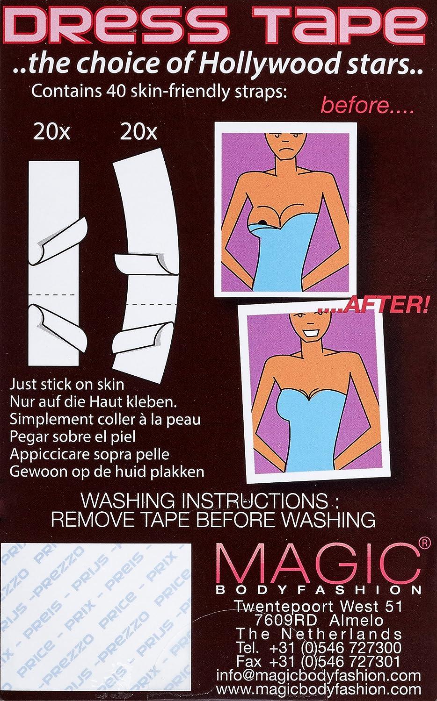Magic Bodyfashion Dress Tape - Cinta Adhesiva de lencería para Mujer, Color Elfenbein (Clear 1070), Talla 36/38/S: Amazon.es: Ropa y accesorios