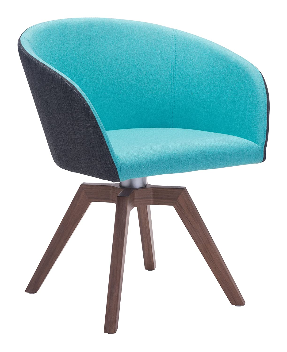 Amazon com zuo wander dining chair blue gray chairs