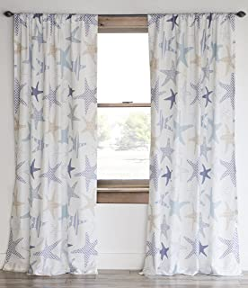 North End Decor Starfish Reef Coastal Curtains Set Of 2 Panels