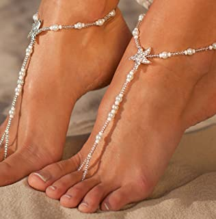 Bermuda Beach Wedding Barefoot Sandals Bridal Foot Jewelry Starfish Sandles Shoes