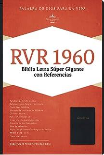 RVR 1960 Biblia Letra Súper Gigante, negro imitación piel con índice (Spanish Edition)