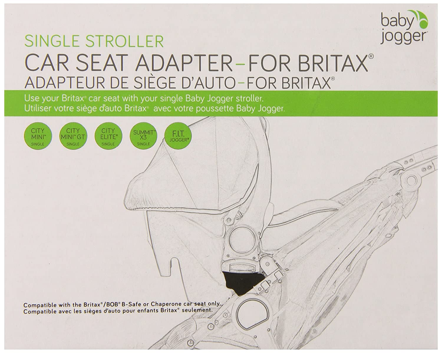 Baby Jogger Britax B-Safe Single Car Seat Adapter Accessories Baby ...