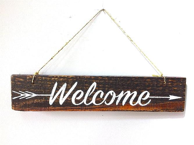 Welcome Sign For Front Door Welcome Door Sign Wreath Welcome Sign Pallet Wood