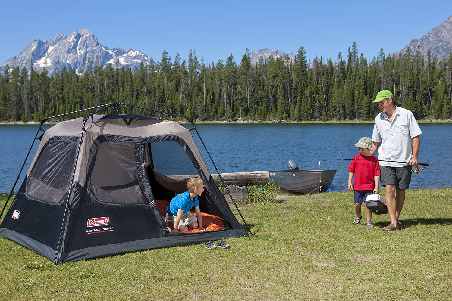Coleman 4 Person Instant Tent & The 10 Best Cheap Camping Tents in 2018 - Review with Buying Guide