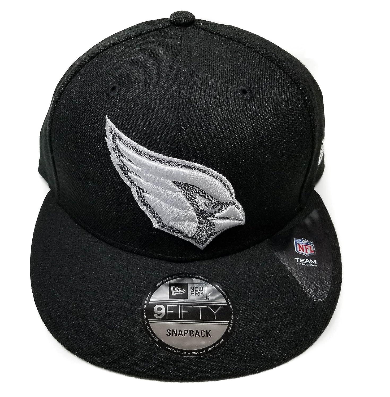 Amazon.com   New Era Arizona Cardinals 9Fifty Black   White Logo Adjustable Snapback  Hat NFL   Sports   Outdoors e2762a36049