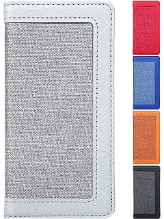 7315174460 ケンコバハンズ ガラスフィルム付 iPhone8ケース iPhone7ケース 手帳型 帆布 レザー (iPhone8/