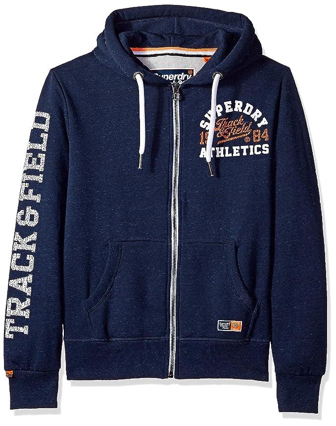 Men's Track & Field Softshell Hybrid Zip Hooded Jacket