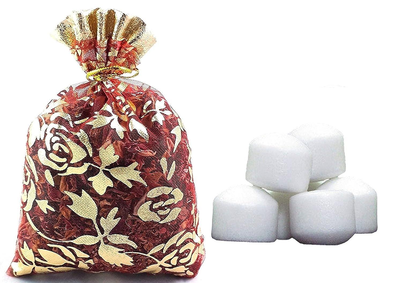 Divinetm Puja puro raffinato canfora 50GM rotonda di alta qualità per Santo spirituale indù Pooja Ganpati & Diwali rituali con bella Potli/sacchetto