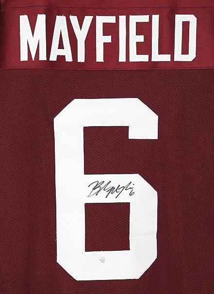 baker mayfield signed jersey