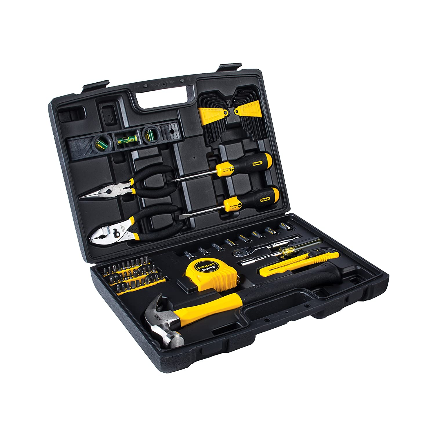 47812f1bcbf STANLEY 94-248 65 Piece Homeowner s DIY Tool Kit - Hand Tool Sets -  Amazon.com