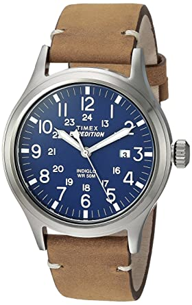 strap watches watch blanc men leather blue detail buy mont s wrist dial