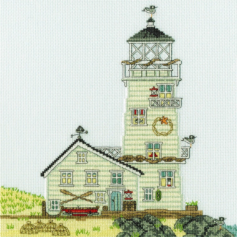 New England Leuchtturm Bothy Threads Kreuzstich-Set Motiv