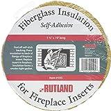 Rutland Fireplace Insert Insulation Fiberglass, 1-1/2-Inch by 10-Feet