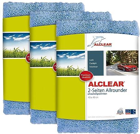 Alclear Poliertücher 2 Seiten Allrounder Für Auto Motorrad Poliermaschine Detailing Mikrofaser Poliertuch Set 3er Set Saugstark 40x40 Cm Blau Auto