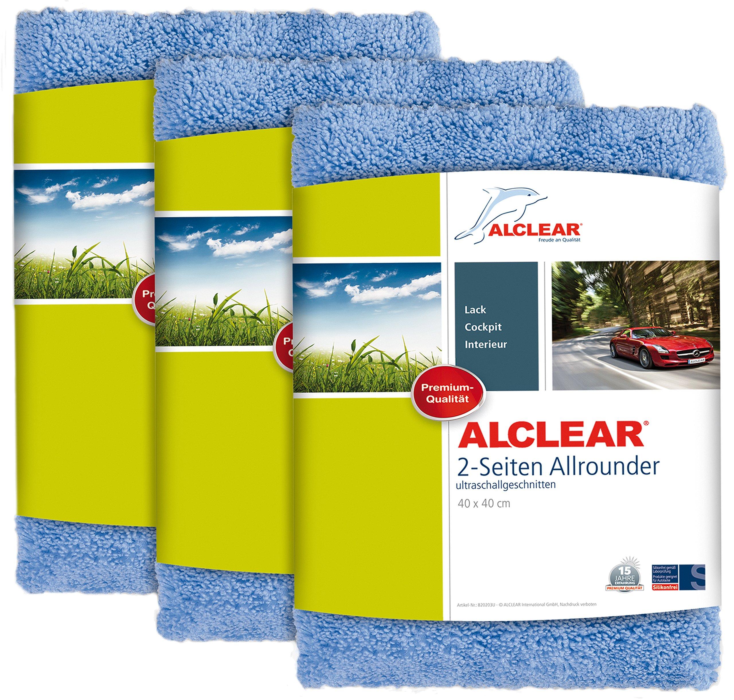 52a0579635ba19 ALCLEAR Poliertücher 2-Seiten-Allrounder für Auto Motorrad    Poliermaschine