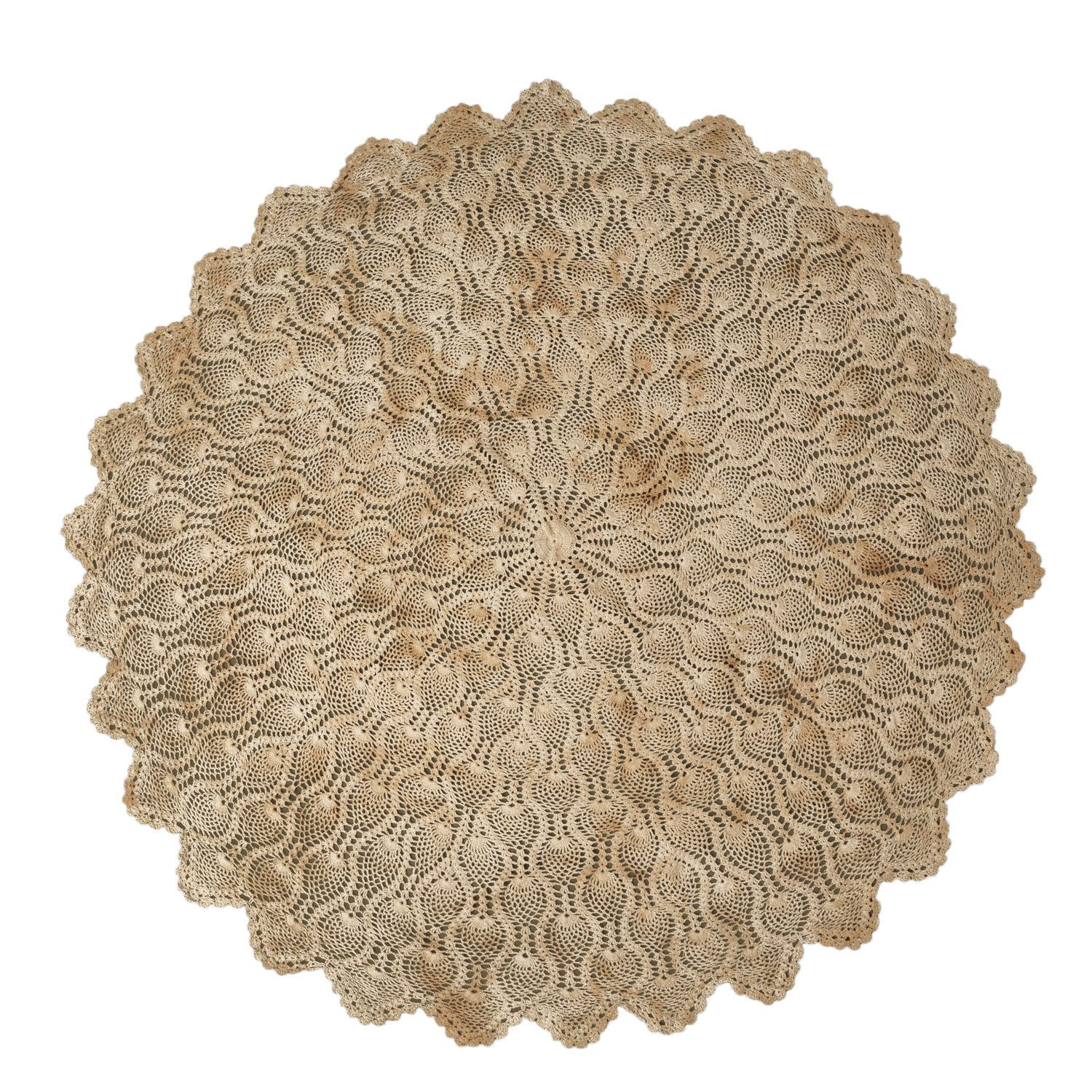 Amazon Your Hearts Delight Hand Crocheted Round Tablecloth 60