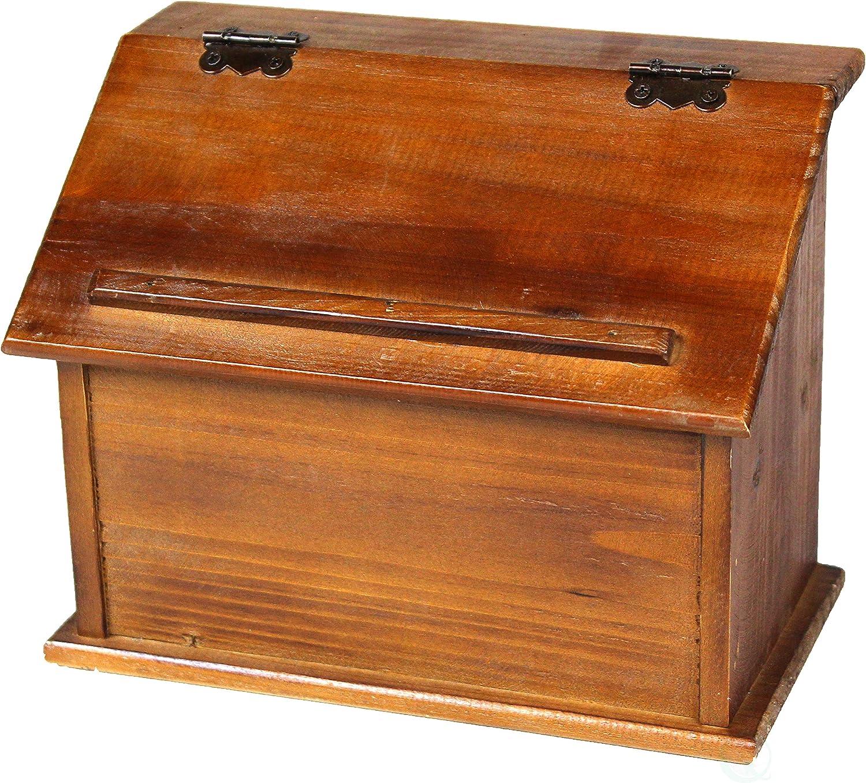 Vintiquewise Estilo Antiguo Podium Caja de Recetas de Madera, marrón: Amazon.es: Hogar
