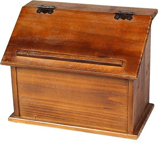 Vintiquewise Estilo Antiguo Podium Caja de Recetas de Madera ...