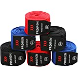PROIRON ボクシングバンテージ グローブ キックボクシング バンテージ練習 4.5m 2.5m マジックテープ式 伸縮性 2サイズ3色選択可能 洗濯ネット付き