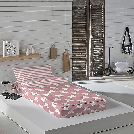 Munich Evo Pink - Saco nórdico para cama de 90 cm (con relleno)