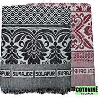 Cotonine The One - Solapuri Chadar/Single Size Cotton Blanket - Set of 2 Nos