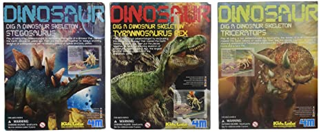 amazon com dig a dino excavation kit 3 pack toys games