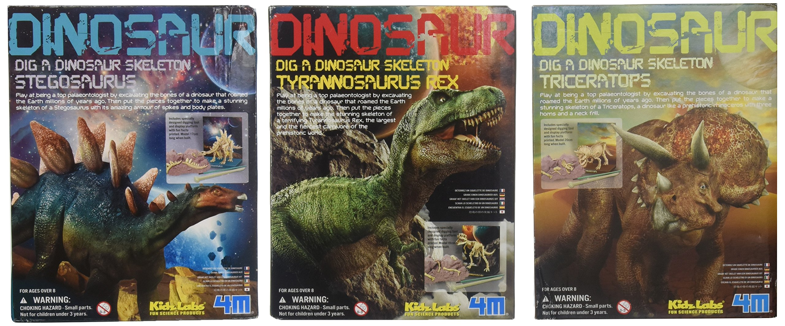 Toysmith Dig A Dino Excavation Kit 3 Pack