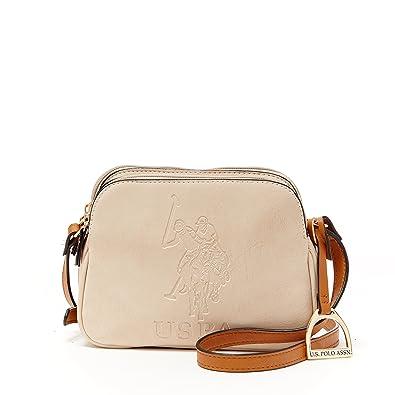 ea0a6a4ffb US Polo Assn. Womens Handbags Kingston Crossbody Bag Beige  Handbags   Amazon.com