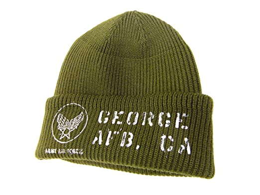 41d0756de3fee Buzz rickson s Men s USAAF A-4 Mechanics Cap Stencil Wool Knit Winter Hat  BR02257 Olive